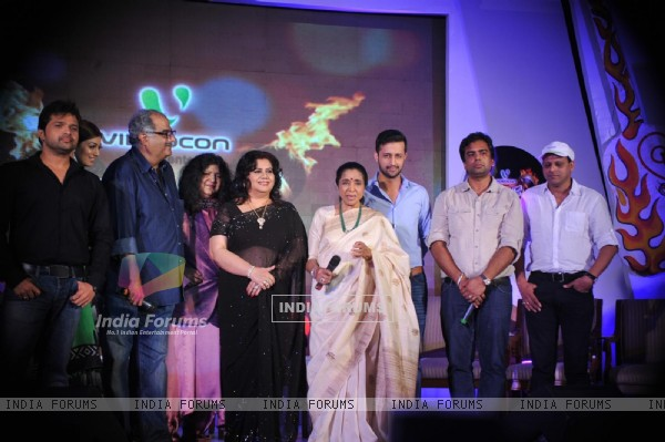 Abida Parveen, Runa Laila, Asha Bhosle, Atif Aslam at Launch of reality musical show of Sur- Kshetra