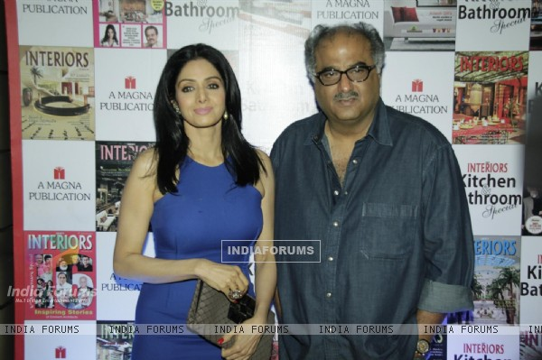 Boney Kapoor and Sridevi at Magan Publication Cover Magazine Unveil