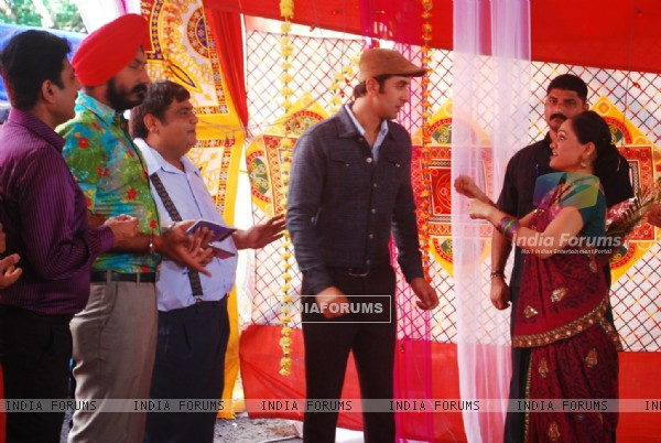 Ranbir Kapoor with Disha Wakani on location of Taarak Mehta Ka Ooltah Chashmah