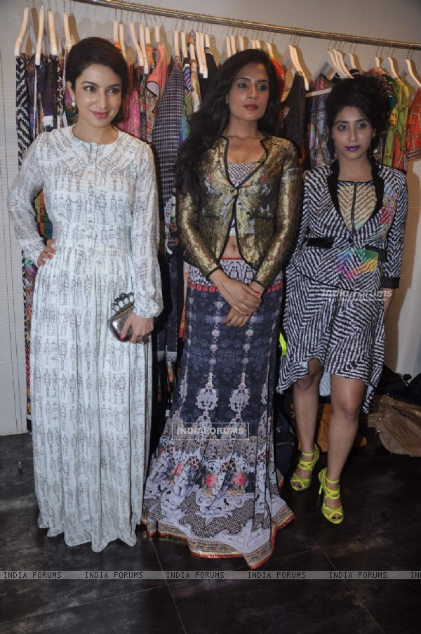 Bollywood actress Tisca Chopra and Richa Chaddha at The Dressing Room in Juhu, Mumbai. .