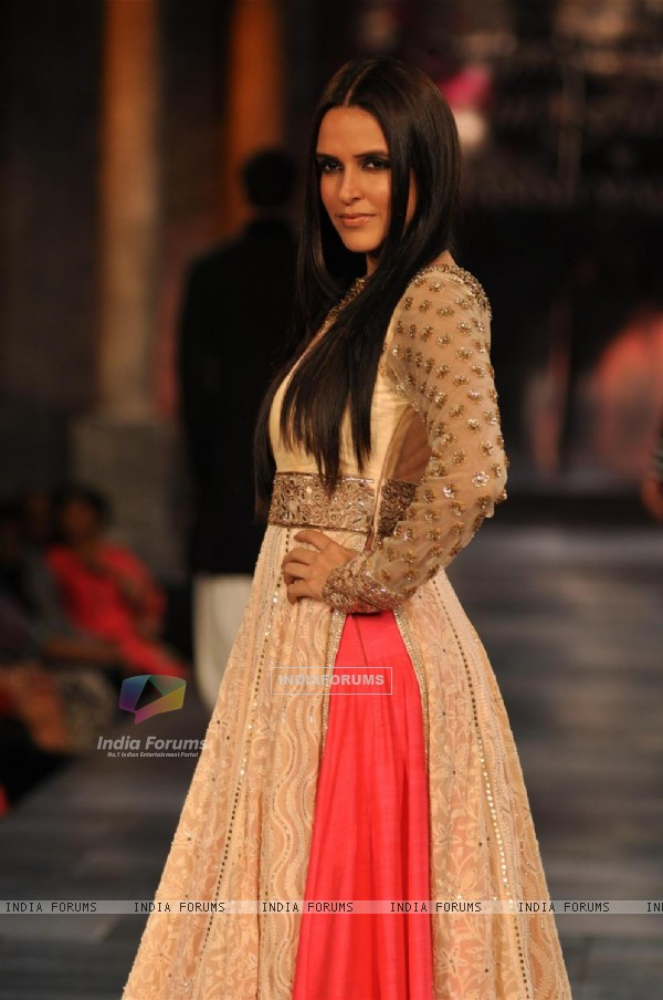 Neha Dhupia at Mijjwan Sonnets in Fabric Fashion Show