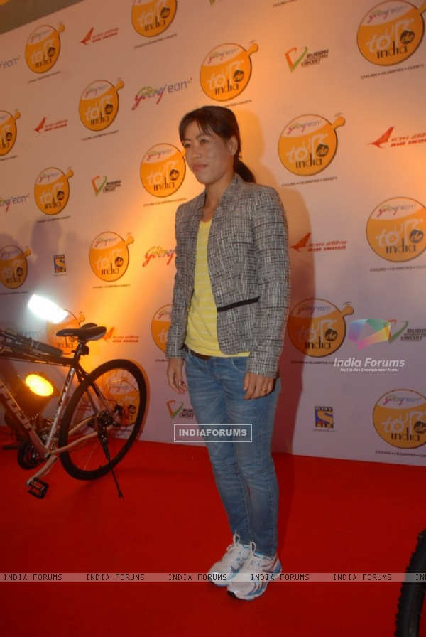 Mary Kom at Godrej Eon's cycling event