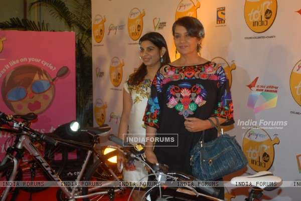 Shabana Azmi at Godrej Eon's cycling event