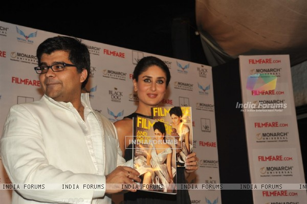 Kareena Kapoor unveiling magazine cover of FilmFare