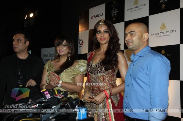 Bipasha Basu walks the ramp for Anjalee and Arjun Kapoor at Bridal Fashion Week