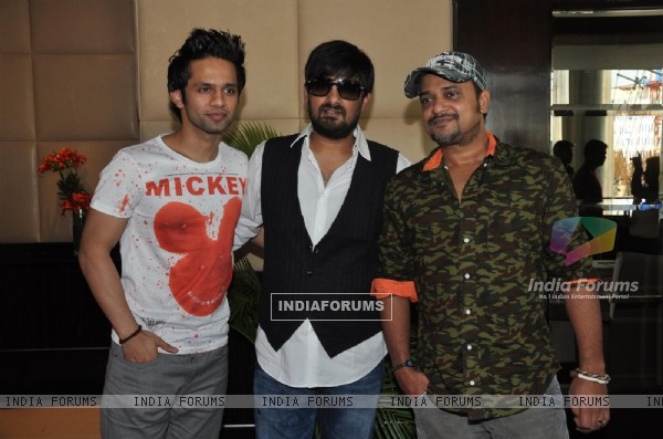 Rahul Vaidya, Wajid Ali and Sajid Ali at  Music Launch Film Ishkq in Paris (226034)