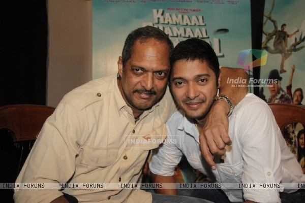 Nana Patekar and Shreyas Shoots for Kamaal Dhamaal Malamaal
