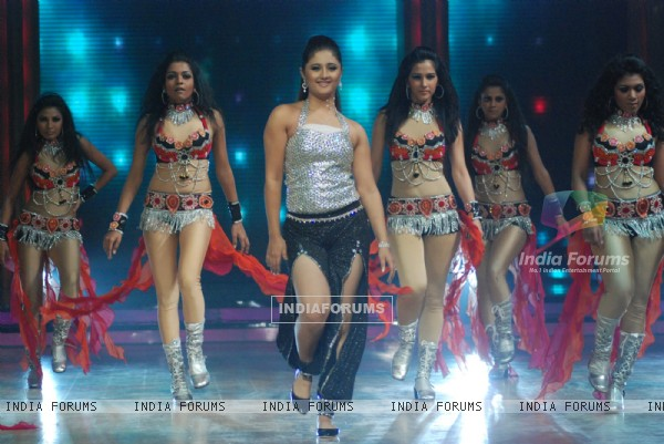 Rashmi Desai Sandhu performance on the sets of Jhalak Dikhla Jaa in Mumbai.