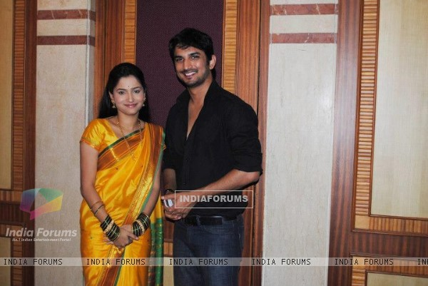 Sushant Singh Rajput and Ankita Lokhande at some event
