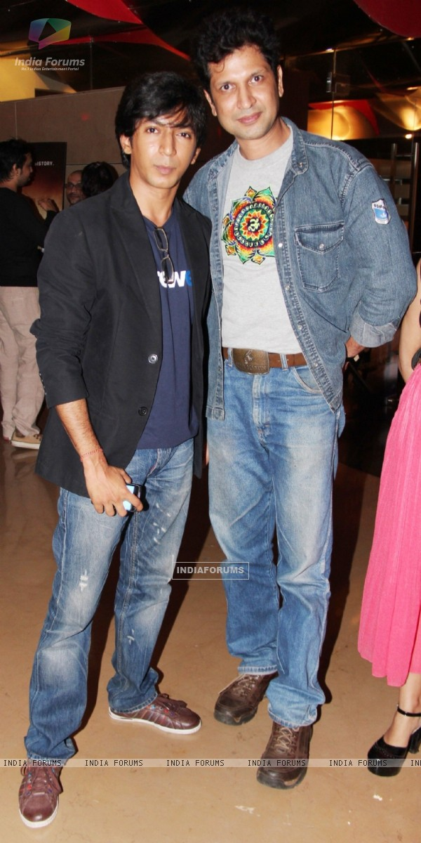 Ashutosh Jha and Bobby Vats at the launch of their latest movie Kismat Love Paisa Dilli (KLPD) in Mumbai.