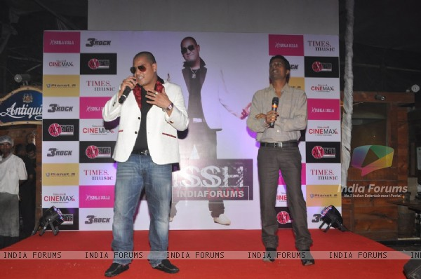 International music composed and singer Kissh strikes a pose during the launch of his debate music album LADY at ky Lounge in Juhu in Mumbai.