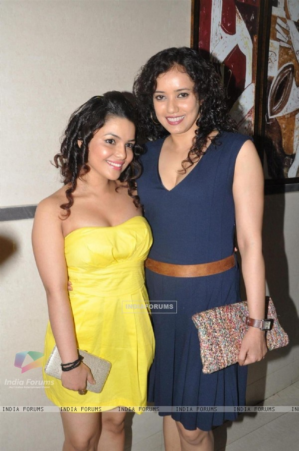 Bollywood actress Chitrashi Rawat and Shreya Narayan during the film Prem Mayee press meet at Hotel Four Seasons in Juhu, Mumbai.