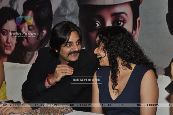 Bollywood actors Chandrachur Singh and Shreya Narayan during the film Prem Mayee press meet at Hotel Four Seasons in Juhu, Mumbai.