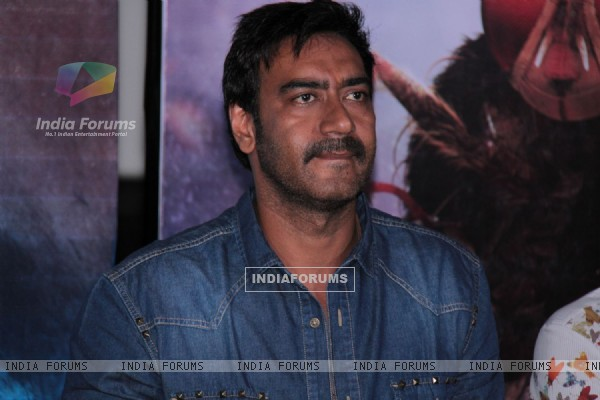 Bollywood actor Ajay Devgan at film Makkhi press conference at PVR Cinemas in Juhu, Mumbai.