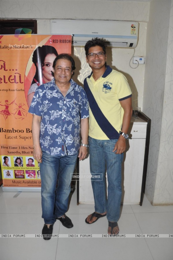 Singers Shaan and Anup Jalota at the Launch of Garba album 'Aye Halo' in Hotel Orritel West in Mumbai.