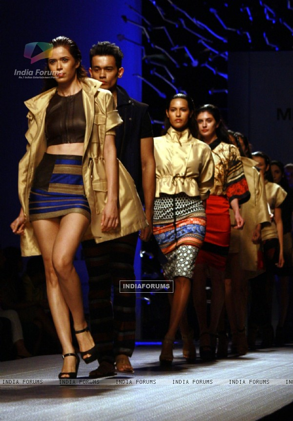 The North East Show by designer Atsu Sekhose ,Wills Lifestyle India Fashion Week -2013, In New Delhi (Photo: IANS/Amlan)