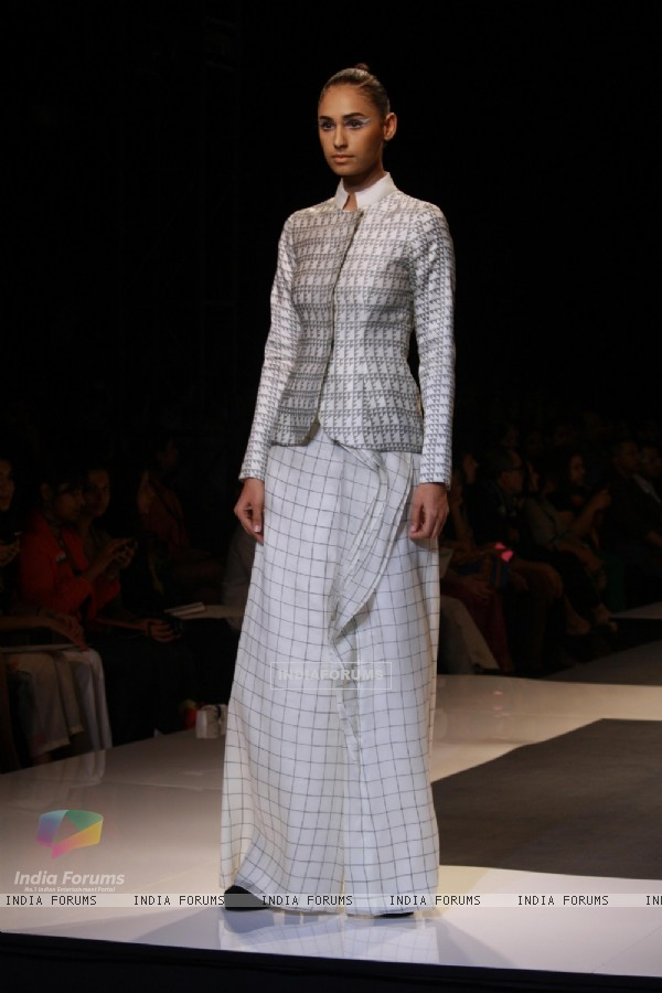 Designer Ankur and Priyanka Modi Wills Lifestyle India Fashion Week -2013, In New Delhi (Photo: IANS/Amlan)