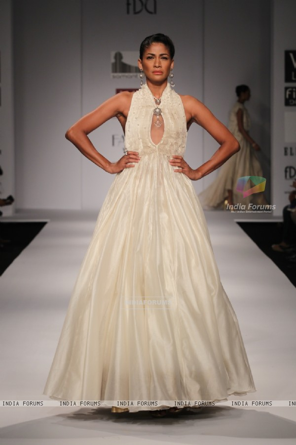 Designer Samant Chauhan Wills Lifestyle India Fashion Week -2013, In New Delhi (Photo: IANS/Amlan)