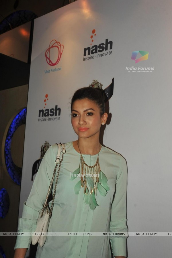 Bollywood actress Gauhar Khan at The Indian Grand Finale Of The McDowell's No.1 Karaoke World Championship at Phoenix Mills in Mumbai.