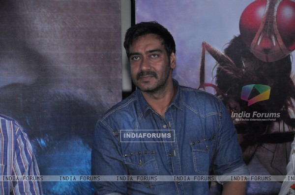 "Ajay Devgn during the press conference for promotion of upcoming Hindi Film "" Makkhi"""