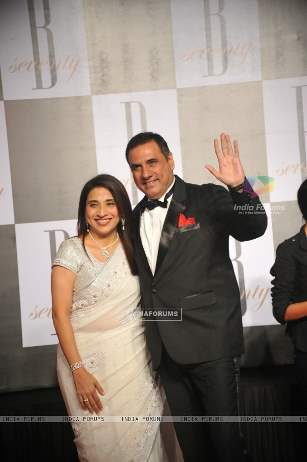 Boman Irani with wife at Amitabh Bachchan's 70th Birthday Party at Reliance Media Works in Filmcity