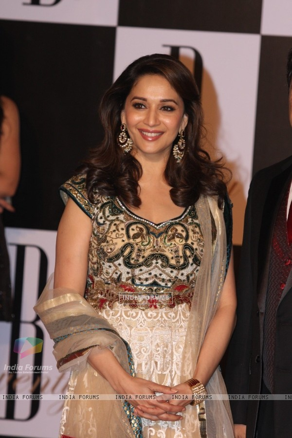 Madhuri Dixit at Amitabh Bachchan's 70th Birthday Party at Reliance Media Works in Filmcity