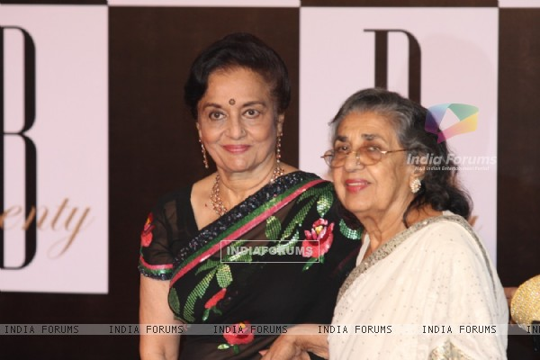 Asha Parekh and Shammi at Amitabh Bachchan's 70th Birthday Party at Reliance Media Works in Filmcity