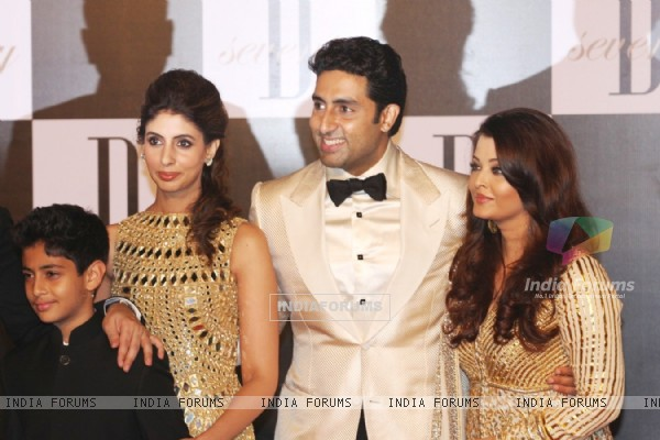 Shweta Nanda, Abhishek Bachchan and Aishwarya Rai at Amitabh Bachchan's 70th Birthday Party