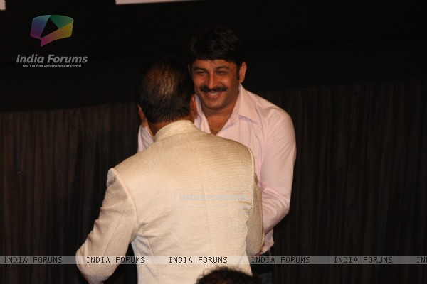 Manoj Tiwari at Amitabh Bachchan's 70th Birthday Party at Reliance Media Works in Filmcity