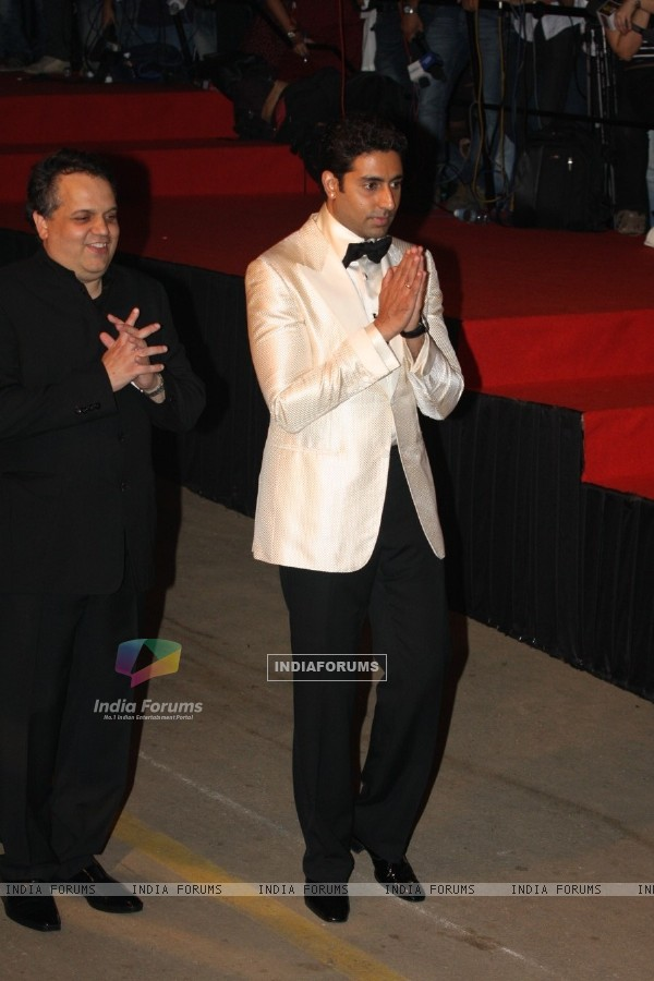 Abhishek Bachchan at Amitabh Bachchan's 70th Birthday Party at Reliance Media Works in Filmcity
