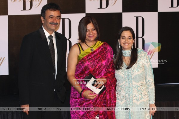 Rajkumar Hirani with wife at Amitabh Bachchan's 70th Birthday Party