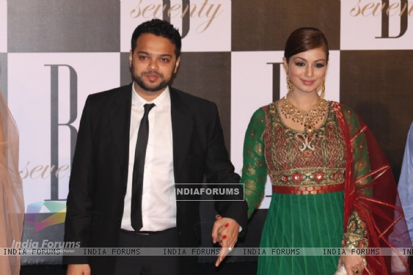Ayesha Takia with Farhan Azmi at Amitabh Bachchan's 70th Birthday Party at Reliance Media Works