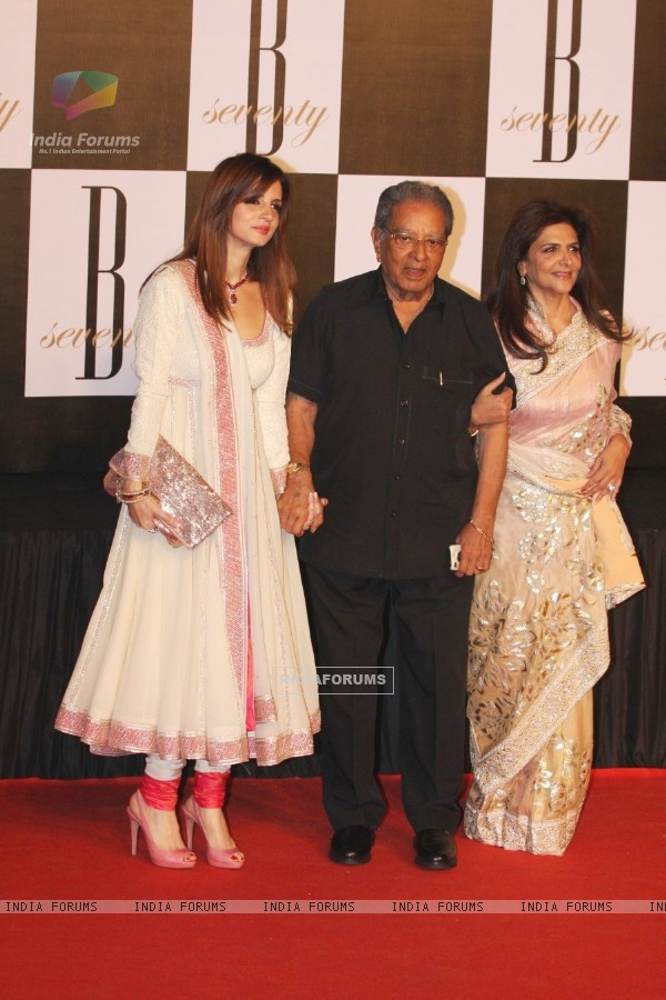 Suzzane Roshan at Amitabh Bachchan's 70th Birthday Party at Reliance Media Works in Filmcity