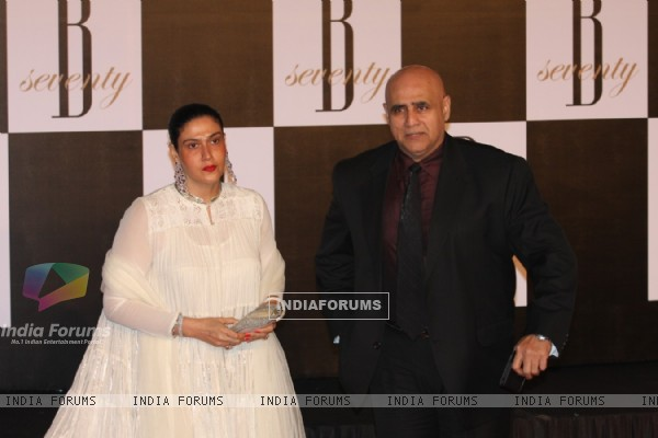 Puneet Isaar with wife at Amitabh Bachchan's 70th Birthday Party at Reliance Media Works in Filmcity