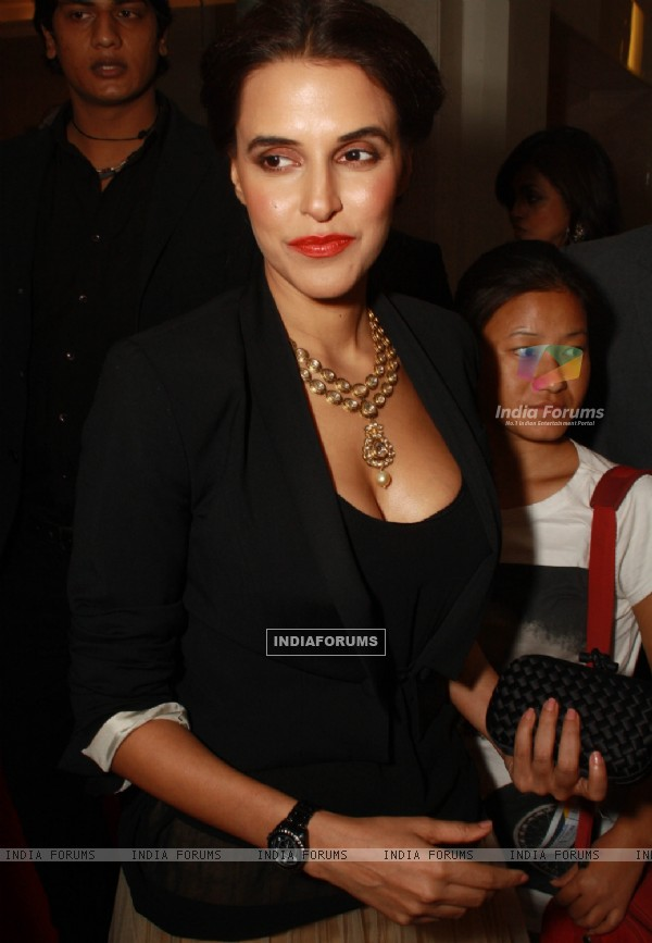 Neha Dhupia  at the  Watch World Awards Function at Gurgaon in Haryana. (Photo: IANS/Amlan)
