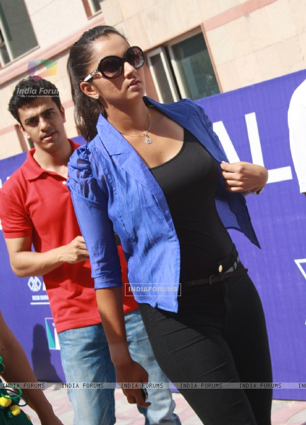 Tennis player Sania Mirza at Fenesta Open National Tennis Championship Tournament, in New Delhi (Photo IANS/Amlan)