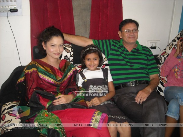 Ankita Lokhande with her Dad