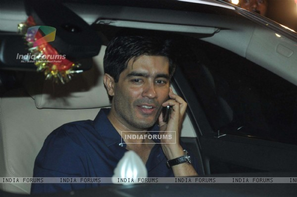 Designer Manish Malhotra at Saif Ali Khan and Kareena Kapoor Sangeet Ceremony at their new house in Bandra, Mumbai.