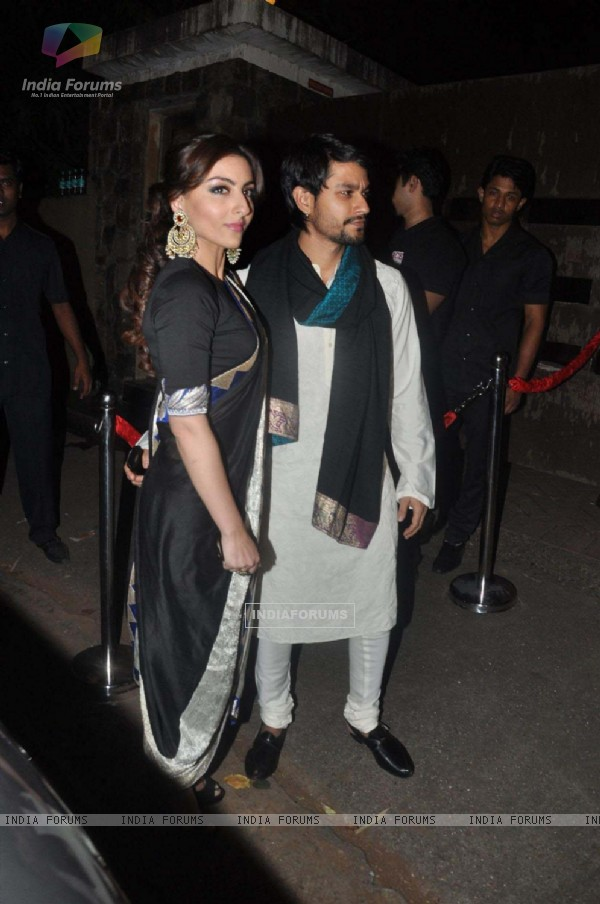 Soha Ali Khan and Kunal Khemu at Saif Ali Khan & Kareena Kapoor Sangeet Ceremony