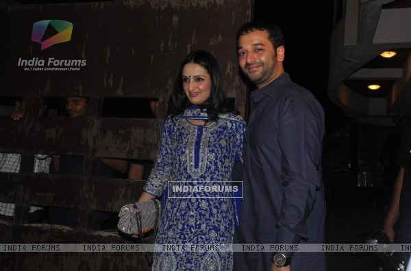 Anu Dewan with husband Sunny Dewan at Saif Ali Khan and Kareena Kapoor Sangeet Party