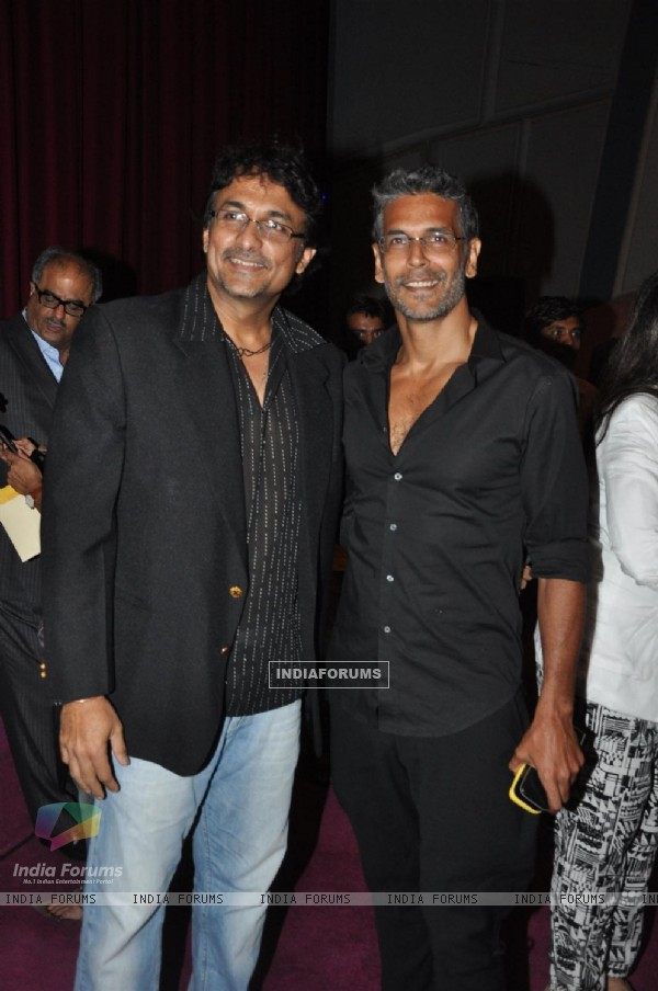Ajinkya Deo and Milind Soman at Opening ceremony of 14th Mumbai Film Festival