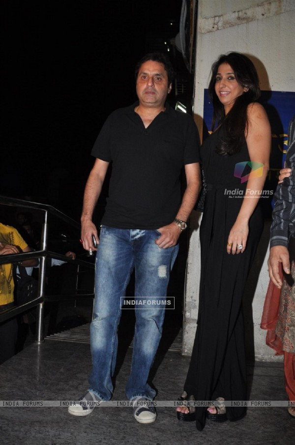 Krishika Lulla with husband Sunil Lulla at Opening ceremony of 14th Mumbai Film Festival