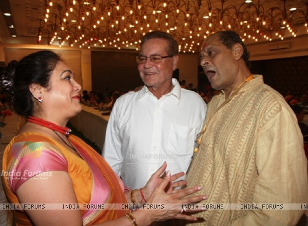 Tina Ambani, Salim Khan and Debu Mukherjee attended Maha Ashtami at North Bombay Sarbojanin Durga Puja