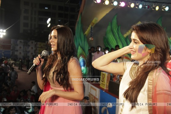 Neha Dhupia & Sagarika Ghadge for Rush Promotion at Kora Kendra Dandiya
