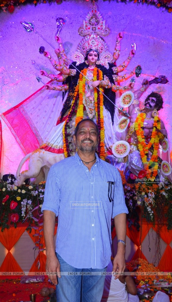 Nana Patekar at North Bombay Sarbojanin Durga Puja in Mumbai.