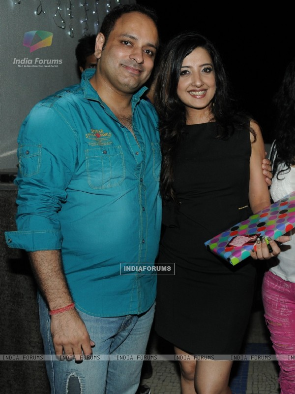 Prashant Sharma with Amy Billimoria at Amy Billimoria B'Day Bash