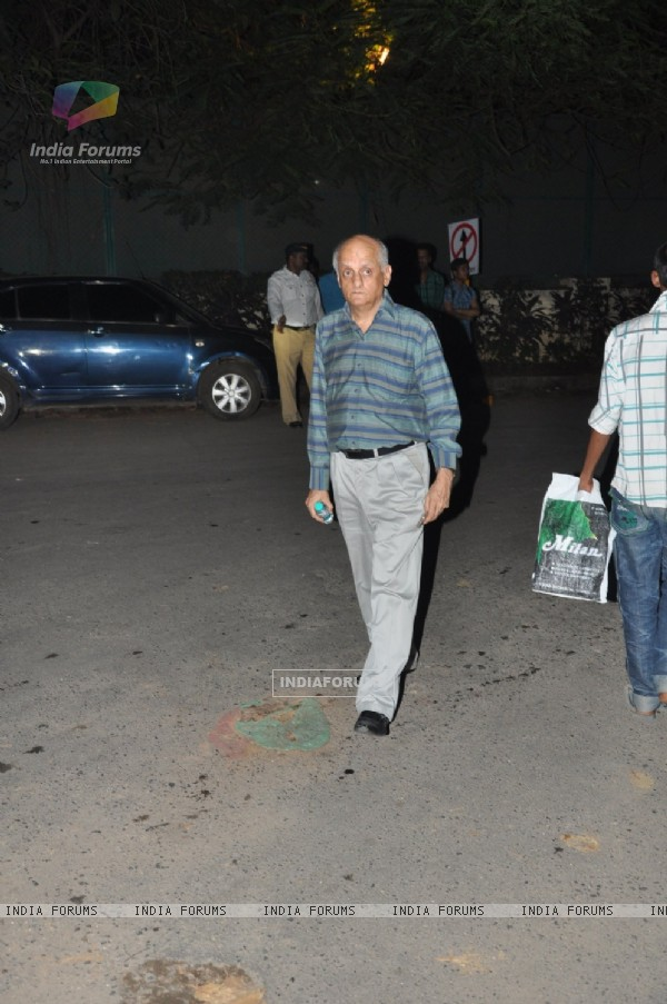 Mukesh Bhatt at Chautha ceremony of filmmaker Yash Chopra at YRF Studios