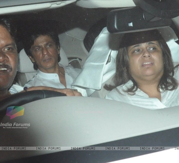 Shahrukh Khan at Chautha ceremony of filmmaker Yash Chopra at YRF Studios
