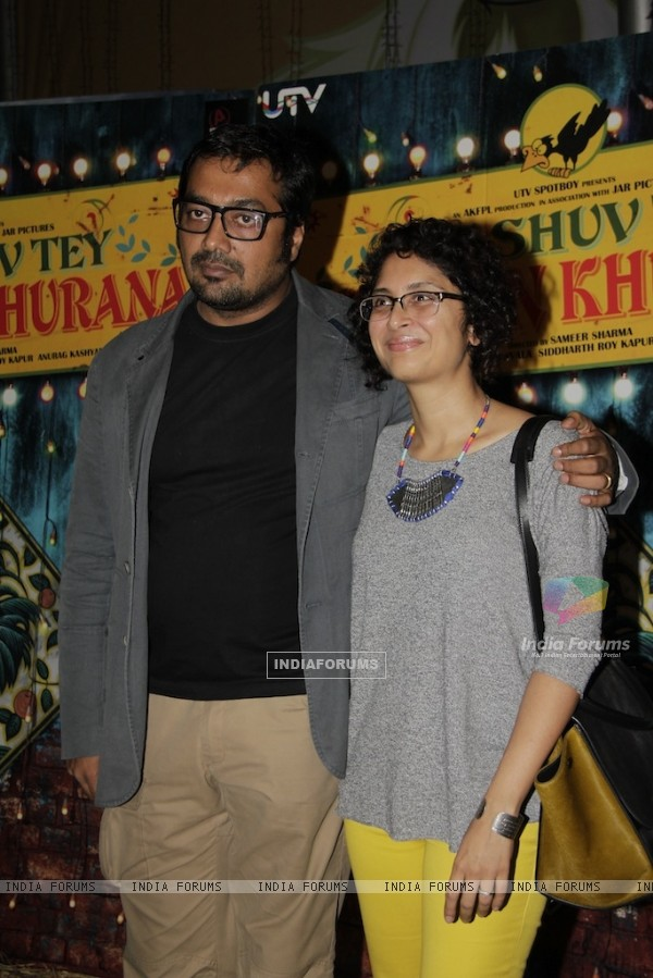 Anurag Kashyap and Kiran Rao at Special Screening of Luv Shuv Tey Chicken Khurana