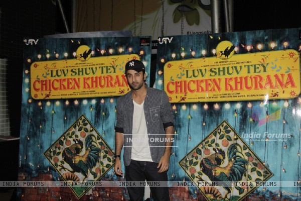 Ranbir Kapoor at Special Screening of Luv Shuv Tey Chicken Khurana